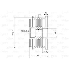 VALEO Generatorfreilauf 77364082 für FORD, FIAT, PEUGEOT, CITROЁN, ALFA ROMEO bestellen