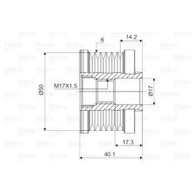 VALEO Generatorfreilauf 23151JD20A für NISSAN bestellen