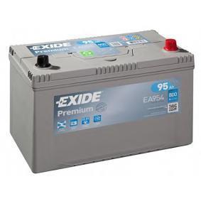 Starterbatterie EXIDE Art.No - EA954 OEM: 371103K300 für HYUNDAI kaufen