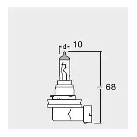 OSRAM Glühlampe, Nebelscheinwerfer, Art. Nr.: 64219L+