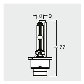 OSRAM Крушка с нагреваема жичка, фар за дълги светлини 66440CBI-HCB