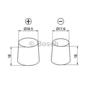 Batterie (0 092 S5A 080) hertseller BOSCH für VW TOURAN (1T1, 1T2) ab Baujahr 02.2003, 136 PS Online-Shop