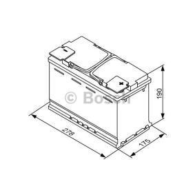 Batería (0 092 S5A 080) fabricante BOSCH para VW PASSAT 1.9 TDI 130 CV año de fabricación 11.2000 beneficioso