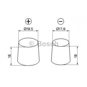 BOSCH 0 092 S5A 150 Starterbatterie OEM - 71770280 ALFA ROMEO, FIAT, LANCIA, ALFAROME/FIAT/LANCI günstig