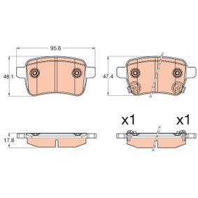Bremsbelagsatz, Scheibenbremse TRW Art.No - GDB2032 OEM: 77366595 für FIAT, ALFA ROMEO, LANCIA, ABARTH kaufen