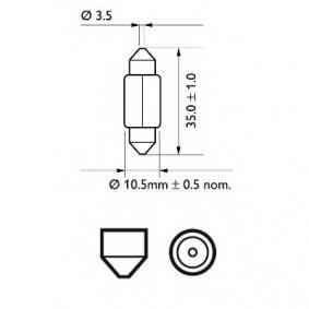 12844CP Bulb, licence plate light from PHILIPS quality parts