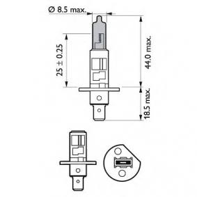 12258WHVSM Glühlampe, Fernscheinwerfer von PHILIPS Qualitäts Ersatzteile