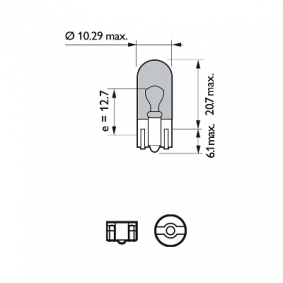 Number plate light bulb 12961NBVB2 PHILIPS