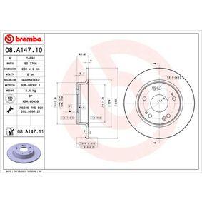 Filtro de aceite motor BREMBO 08.A147.11 populares para HONDA CIVIC 1.6 114 CV