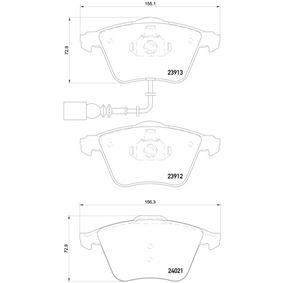 BREMBO Bremsbelagsatz, Scheibenbremse (P 85 129) niedriger Preis