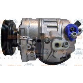 HELLA Compresor, aire acondicionado 4B0260805G para VOLKSWAGEN, SEAT, AUDI, VOLVO, SKODA adquirir