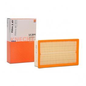 Luftfilter MAHLE ORIGINAL Art.No - LX 3502 OEM: 5Q0129620D für VW, AUDI, SKODA, SEAT, PORSCHE kaufen