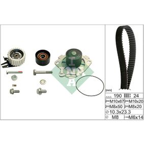 INA Water Pump & Timing Belt Set 530 0624 30