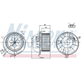 NISSENS SKODA OCTAVIA Motor vetraku (87034)