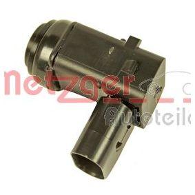 METZGER Sensor, Einparkhilfe grundiert hinten Ultraschallsensor 0901046 in Original Qualität