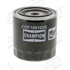CHAMPION COF100102S Filtre à huile OEM - 0003897991 AUDI, SEAT, SKODA, VOLVO, VW, VAG, WIESMANN, NPS à bon prix