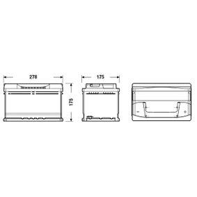 CENTRA Starterbatterie CB712