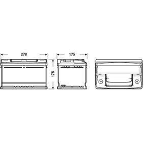 61218381716 für BMW, Starterbatterie CENTRA (CC652) Online-Shop