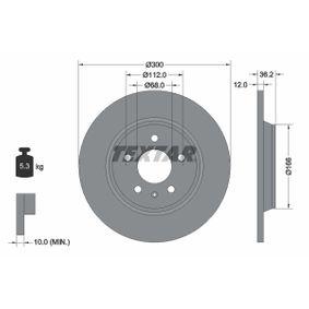 TEXTAR Bremsscheibe (92160103) niedriger Preis