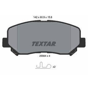 TEXTAR MAZDA CX-5 Taqués hidráulicos (2556401)