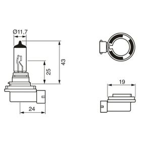 1 987 301 339 Bulb, spotlight from BOSCH quality parts