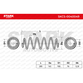 STARK FORD MONDEO Muelles de suspensión (SKCS-0040049)