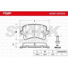 4F0698451D für VW, AUDI, SKODA, SEAT, HONDA, Bremsbelagsatz, Scheibenbremse STARK (SKBP-0011015) Online-Shop