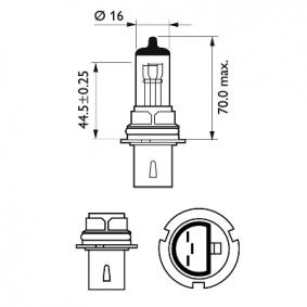 Крушка с нагреваема жичка, фар за дълги светлини 9004C1 онлайн магазин