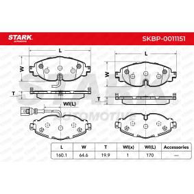 5Q0698151B pour VOLKSWAGEN, AUDI, SEAT, SKODA, Kit de plaquettes de frein, frein à disque STARK (SKBP-0011151) Boutique en ligne