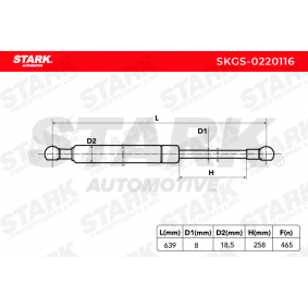 Amortiguador de portón SKGS-0220116 STARK