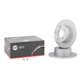 A.B.S. Brake Disc Rear Axle, Ø: 245,0mm, Solid 16099 expert knowledge