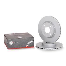 A.B.S. Disco de travão Eixo dianteiro, Ø: 259,0mm, ventilado 16150 de qualidade original