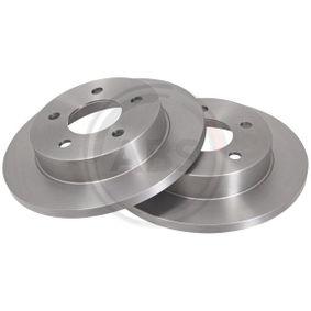 A.B.S. Bremsscheibe Hinterachse, Vorderachse, Ø: 280,0mm, belüftet Artikelnummer 16881 Preise
