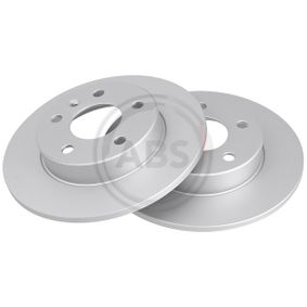 Brake Disc Rear Axle, Ø: 264,0mm, Solid from manufacturer A.B.S. 16955 up to - 70% off!