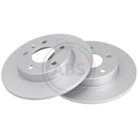 Disco de freno Eje trasero, Ø: 264,0mm, Macizo del fabricante A.B.S. 16955 hasta - 70% de descuento!