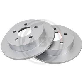 A.B.S. Disco de travão Eixo traseiro, Ø: 264,0mm, Cheio Número do artigo 16955 preços