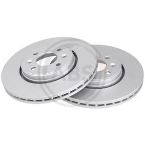 A.B.S. Disco de travão Eixo dianteiro, Ø: 281,0mm, ventilado, revestido 8717109022742 classificação