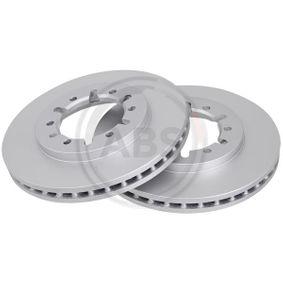 A.B.S. Disco de travão Eixo dianteiro, Ø: 255,0mm, ventilado, revestido 8717109022803 classificação