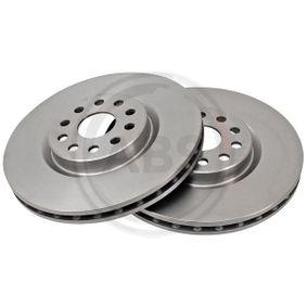 A.B.S. Disco de travão Eixo traseiro, Ø: 265,0mm, Cheio, revestido 8717109023008 classificação