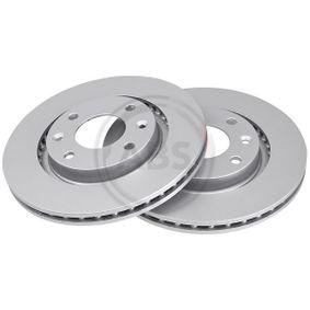 спирачен диск ляво, дясно, предна ос, Ø: 266,0мм, вентилиран, с покритие от производител A.B.S. 17336 до - 70% отстъпка!