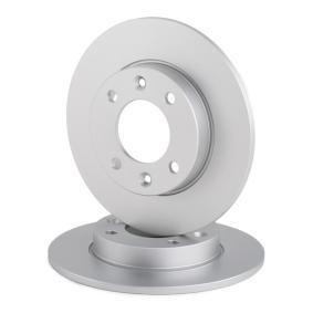 A.B.S. Disco de travão Eixo traseiro, Ø: 247,0mm, Cheio, revestido 8717109253801 classificação
