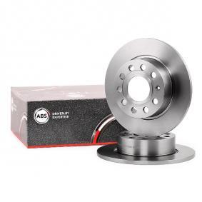 A.B.S. Brake Disc Rear Axle, Ø: 253,0mm, Solid, Coated 17520 original quality