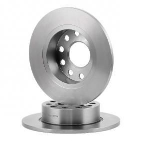 A.B.S. Brake Disc Rear Axle, Ø: 253,0mm, Solid, Coated 8717109260298 rating