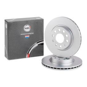 A.B.S. Disco de freno Eje delantero, Ø: 280,0mm, ventilado, revestido 17522 en calidad original