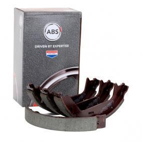 A.B.S. Bremsebakkesæt, parkeringsbremse bagaksel, 178,0mm 9071 af original kvalitet