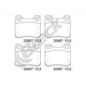 Bremsbelagsatz, Scheibenbremse BRECK Art.No - 20687 00 704 00 OEM: A0004208820 für MERCEDES-BENZ kaufen