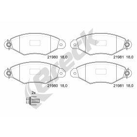Bremsbelagsatz, Scheibenbremse BRECK Art.No - 21980 00 702 00 kaufen