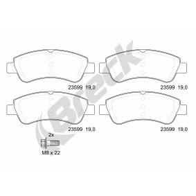 Brake Pad Set, disc brake BRECK Art.No - 23599 00 701 00 OEM: 425341 for PEUGEOT, CITROЁN, OPEL, DS, PIAGGIO buy