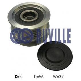 Generatorfreilauf RUVILLE Art.No - 59976 OEM: 07K903119 für VW, AUDI, SKODA, SEAT kaufen