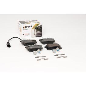 BRECK Bremsbelagsatz, Scheibenbremse 6Q0698451 für VW, AUDI, SKODA, SEAT, HONDA bestellen